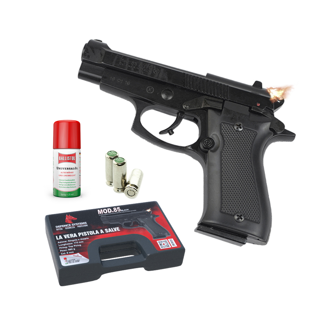 420.000-Pistola a salve85 Pistol 8 mm Black