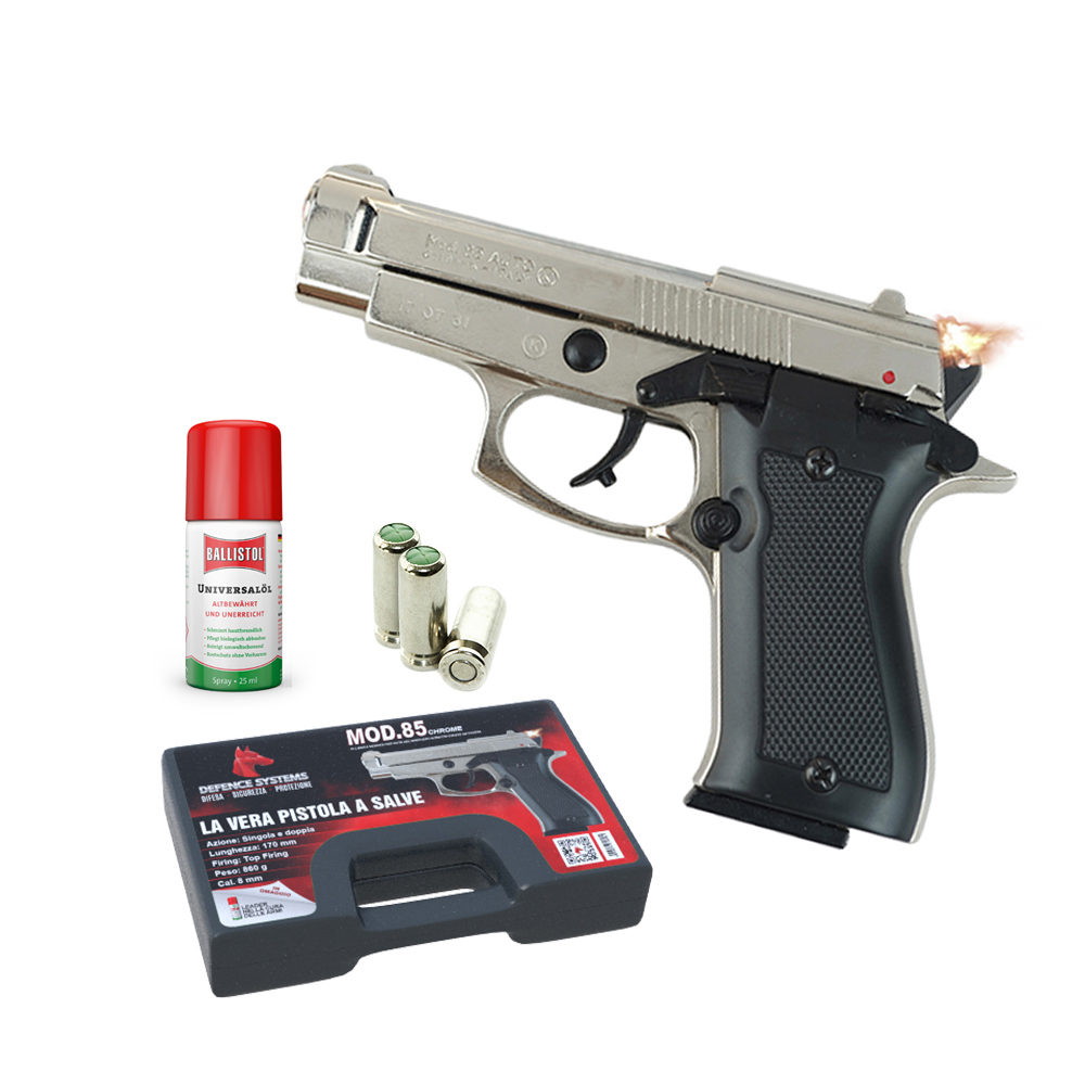 430.000- Pistola a salve – 85 Pistol 8 mm – Chrome